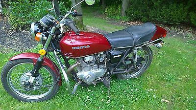 Honda : CB 1976 honda cj 360 t cj 360 t cb cl red twin original vintage motorcycle