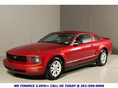 Ford : Mustang V6 COUPE AUTO SPOILER 66K MILES RED 2007 mustang coupe spoiler 16 alloys auto prem sound ac power windows
