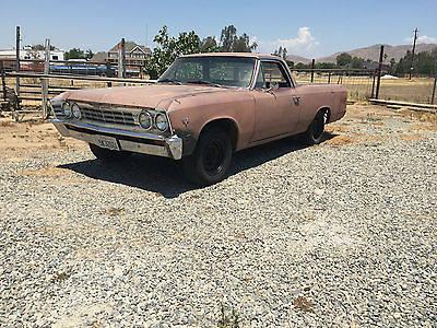 Chevrolet : El Camino el camino 1967 el camino runing driving project car zero rust patina