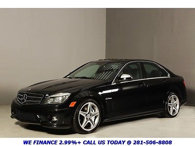 Mercedes-Benz : C-Class C63 AMG SUNROOF LEATHER 54K MILES HEATSEATS XENONS 2009 mercedes benz c 63 amg sunroof 18 amg alloys xenons harman black performance