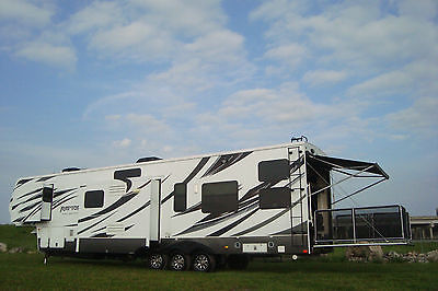 2013 KEYSTONE RAPTOR 42' 5TH TOY HAULER EVERY OPTION 3S PRTY DECK 6 PT LEVELING