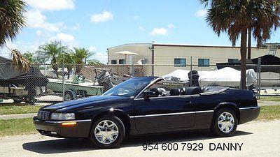 Cadillac : Eldorado CONVERTIBLE COACHBUILDERS 2002 cadillac eldorado convertible 15 228 act miles all black florida mint