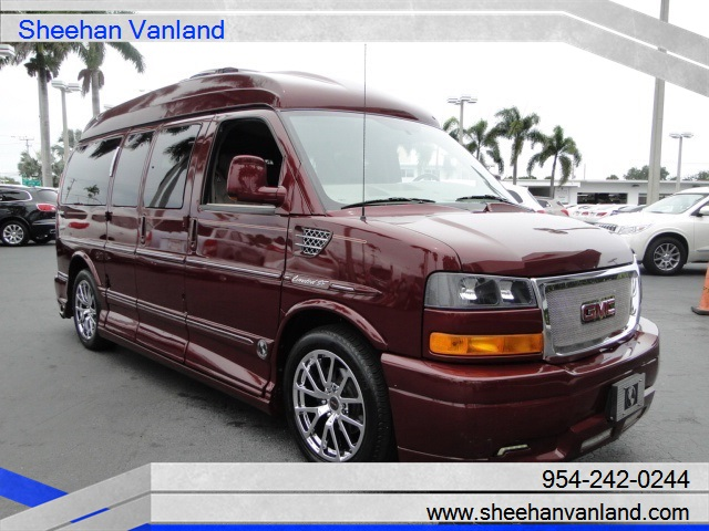 GMC Savana Stunning Red 7 Pass Explorer SE LTD Conversion Van 2013 Custom High