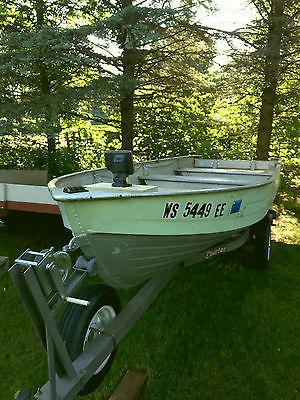 14' Aluminum Fishing Boat with trailer and motor