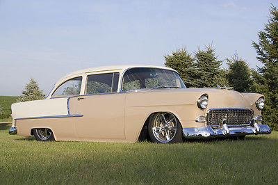 Chevrolet : Bel Air/150/210 210 55 chevy 210 post restomod efi 383 tremec 5 speed 4 link 9 over 225 k invested
