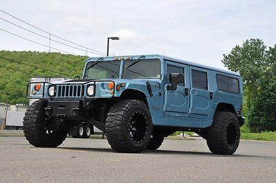 Hummer : H1 01 Hummer H1 Turbo Diesel AWD RARE Blue 2001 am general hummer h 1 wagon 6.5 l turbo diesel very rare low miles awd
