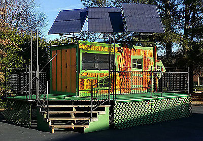 Solar Powered Concession Trailer with Tiny House and Stage Platform / Deck