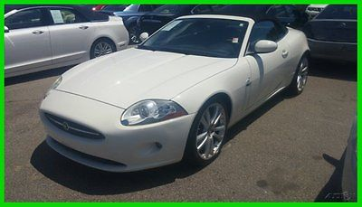 Jaguar : XK 2007 jaguar xk navigation 4.2 l v 8 32 v automatic rwd convertible white black
