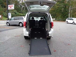 Dodge : Caravan handicap wheelchair accessible van 2015 white handicap wheelchair accessible van rear entry van mobility