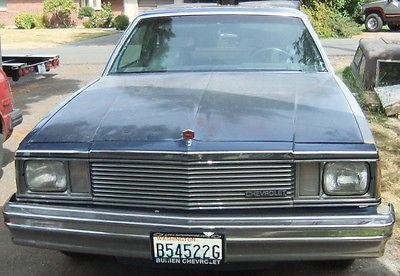 Chevrolet : El Camino 1981 chevrolet el camino 3 speed manual transmission