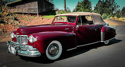 Lincoln : Continental Cabroilet Convertible 1948 lincoln continental convertible very rare california rust free