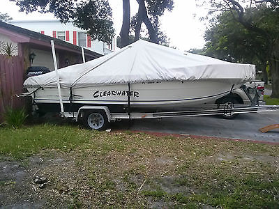 19 ft Aquatron Center Console fish-ski/90 hp Merc/Load Master trailer