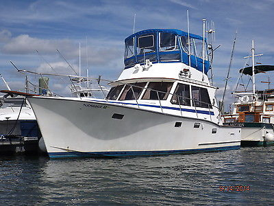 Boat -- South Bay 37 Custom Sports Convertible, White with Teak Interior