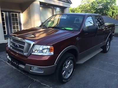 Ford : F-150 King Ranch F150 CREW KING RANCH SUNROOF SADDLE LEATHER CLEAN 1 OWNER PREMIUM WHEELS TONNEAU