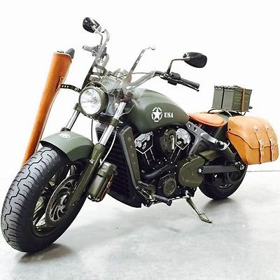 Indian : SCOUT 2015 indian scout army custom green on green