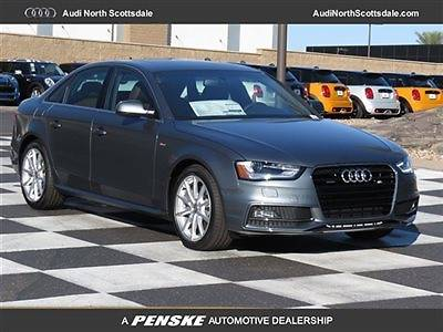 Audi : A4 Premium Plus Quattro Sport Package New Gray Audi A4 AWD Bluetooth Heated Leather Ipod Sirius XM Sport Sun Roof
