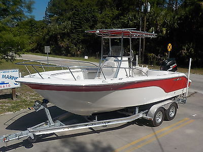 NICE 2008 SEA FOX 216 CC OFFSHORE FISHING BOAT W/ SUZUKI 175HP 4-STROKE PRO