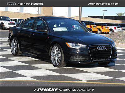 Audi : A6 Premium Plus Navigation Quattro Boses New 2015 A6 AWD Navigation 3.0 Black Heated Leather Bluetooth Camera Ipod Sirius