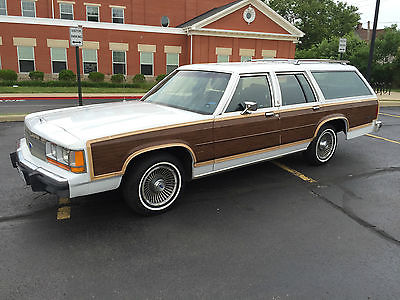 Ford : Crown Victoria country squire 89 ford country squire woody station wagon ltd crown vic mercury colony park 64 k