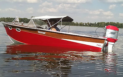 Vintage Sportcraft runabout wood boat
