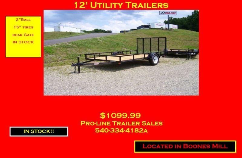 New 6 x 12 utility trailer