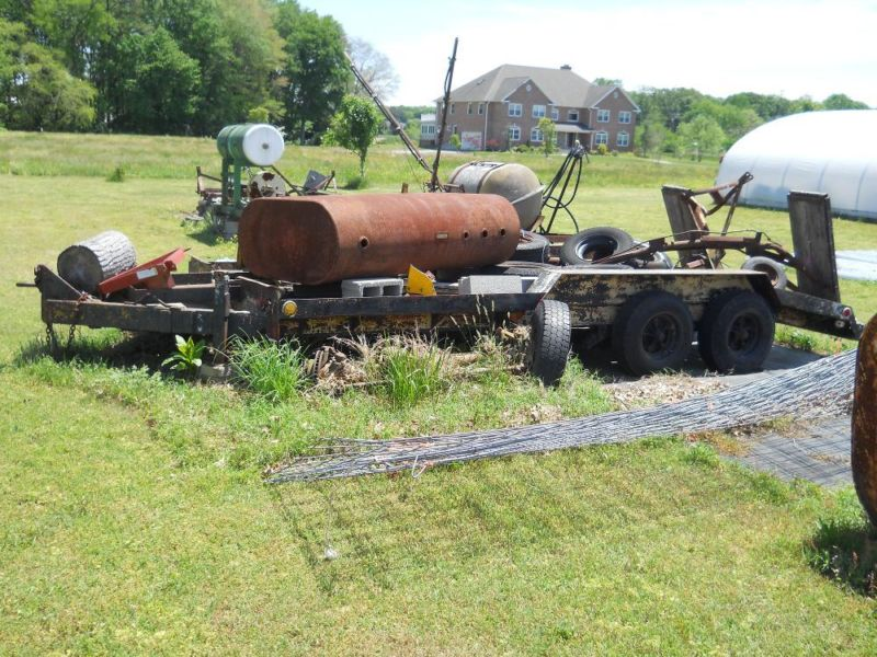 20,000lb tri axle equiptment trailer