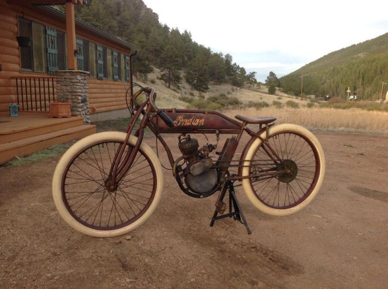 1910 indian boardtrack replica 80cc bicycle