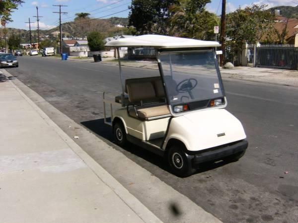 Golf Cart Yamaha Foldable Backseat 4 Seater with charger
