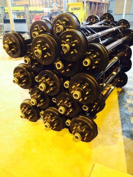 3,500 lb Capacity Brand New Rockwell American Electric Brake Axle 3.5k