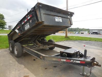 2011 PJ Dump Trailer, 14 ft, 14000 GVWR stickered at 9990 GVWR for DOT
