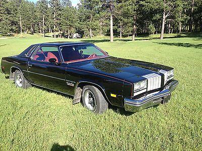Oldsmobile : Cutlass black 1977 oldsmobile cutlass salon 39 k actual miles