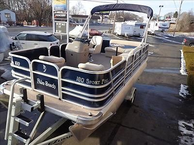 2014 Sport Fish 180 pontoon boat & 2014 EZ Loader Trailer, MOTOR EXTRA