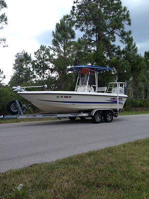 1999 Hydra-Sports 21.5' Fishing Boat, 225 H.P. Evinrude engine includes trailer