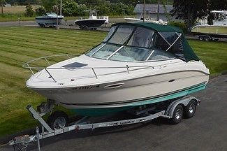 2002 SEA RAY 225 WEEKENDER, 24FT CUDDY, MERC 5.0L EFI 240HP 213 HRS, W/TRAILER