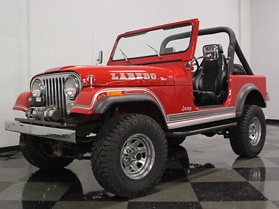 Jeep : CJ 7 Laredo GREAT RUNNING 360CI V8, 4 SPEED, HARDTOP & BIKINI TOP, A/C, EXTREMELY SOLID JEEP
