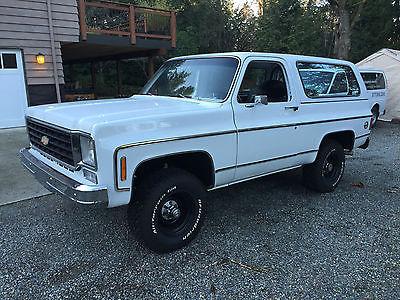 Chevrolet : Blazer Cheyenne 1976 chevrolet k 5 blazer 4 x 4 350 v 8 automatic fresh paint restoration