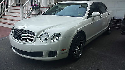 Bentley : Continental Flying Spur Speed Edition 2009 bentley continental flying spur speed white white 41 k