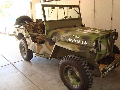 Willys : MB 1945 willys mb original ww 2 war jeep price reduced motivated to sell