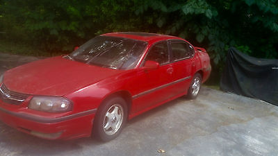 Chevrolet : Impala LS 2001 red chevy imapla ls sedan 4 d