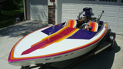 1977 Wesco Runner Bottom Drag Boat V Drive Race Ski