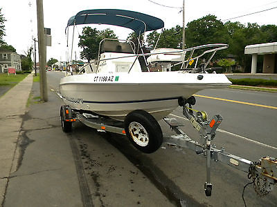1996 Wellcraft 190 CCF Center Console Johnson 112 SPL runs VG, trailer nice!