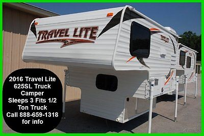 16 Travel Lite Truck Camper Trailer 1/2 Ton Towable New RV Light Slide In MH