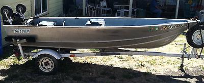1985 Gregor Boat U-134 Aluminum 13' 4
