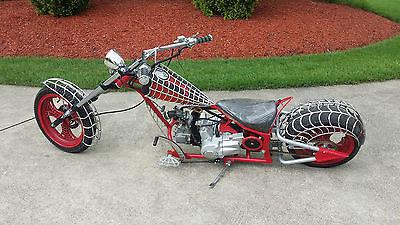 Custom Built Motorcycles : Chopper RARE Orange County Chopper Replica Black Widow Mini Bike Only used ONLY 2 times