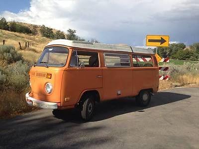 Volkswagen : Bus/Vanagon White, Orange Orange vintage 1973 vw bus