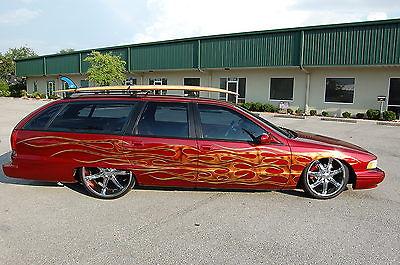 Chevrolet : Other Custom 1992 custom chevrolet caprice surf wagon show car bagged air ride custom flames