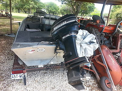 17 ft Basstracker with 35hp motor and trailer