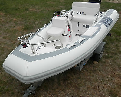 Novurania DL 335 12' Inflatable Center Console Boat 2004 - Rib -  Nissan 30Hp