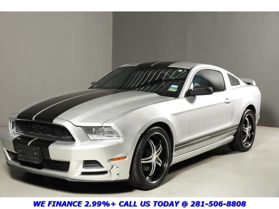 Ford : Mustang 2013 PREMIUM COUPE LEATHER AUTO XENONS 2013 mustang premium coupe leather auto xenons spoiler silver black pony perform