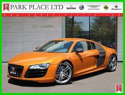 Audi : R8 5.2L Quattro 2011 r 8 5.2 l v 10 quattro coupe 6 speed manual samoa orange 11 k miles
